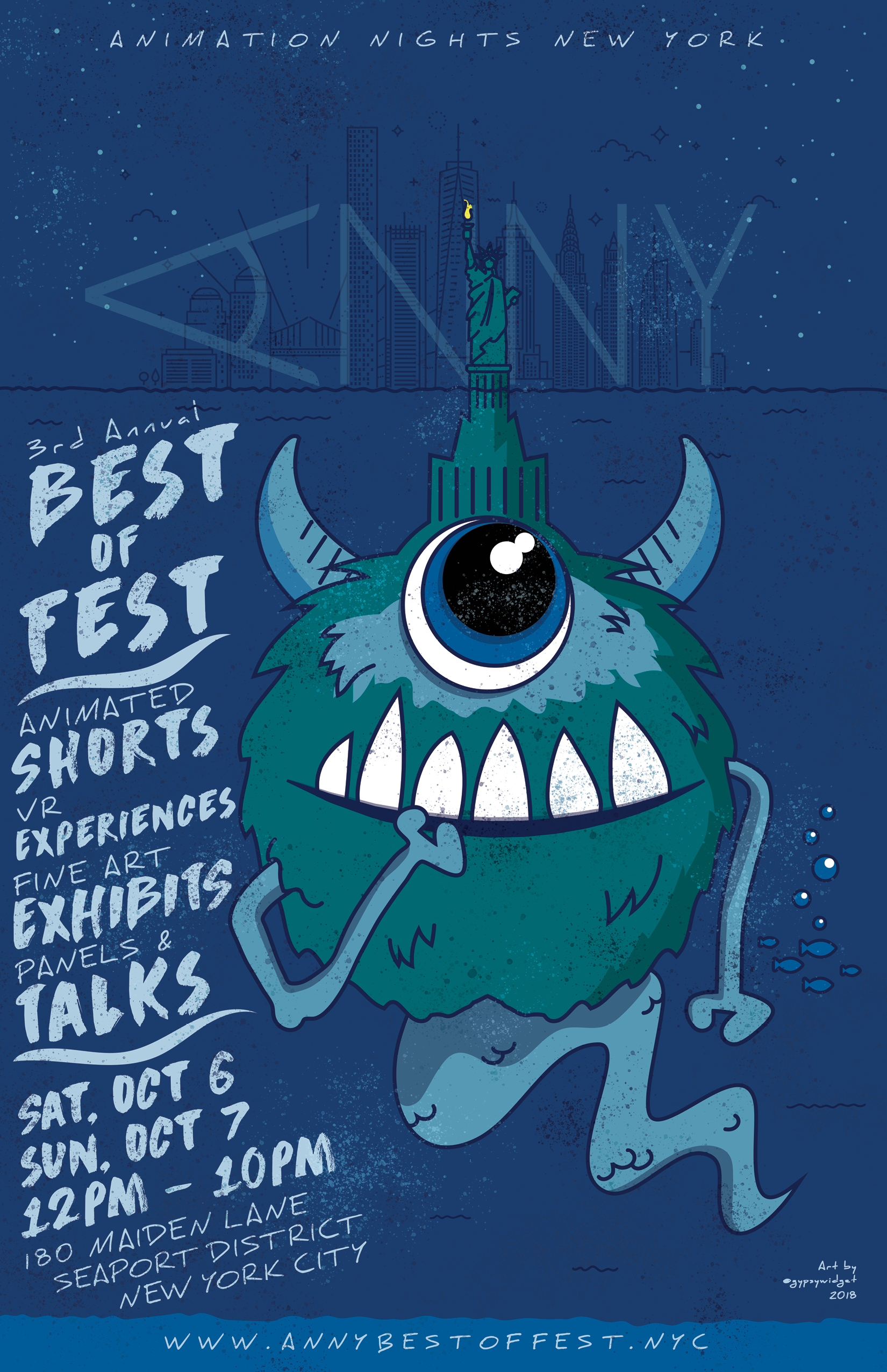 2018 ANNY Best of Fest, Oct 6-7 – Animation Nights New York